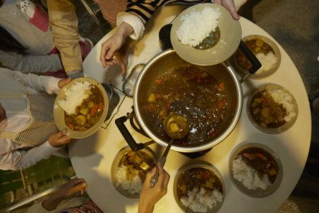 飯盒炊爨とカレー作り